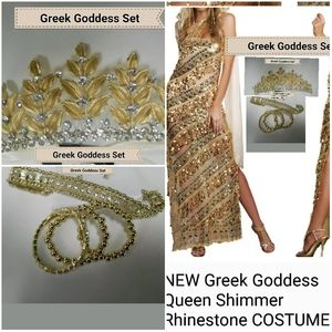 NW Greek goddess costume many pieces